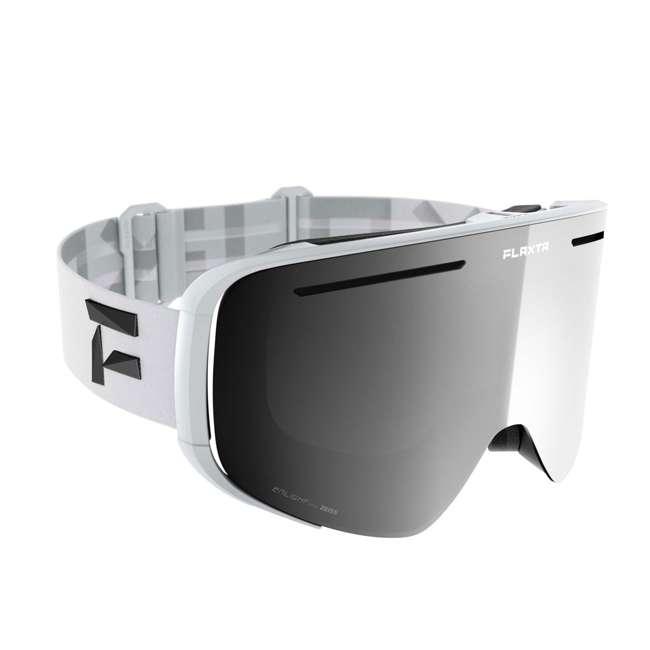 FX801102010ONE Flaxta FX801102010ONE Plenty Ski & Snowboard Goggles White with Silver Lenses