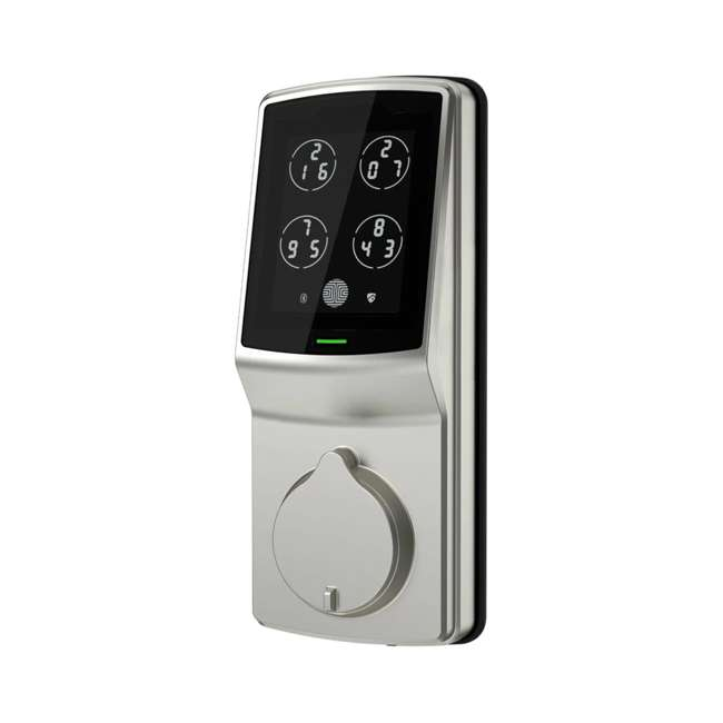 PGD728SN + PGH200 Lockly Secure Keyless Entry Smart Deadbolt Door Lock, Nickel with Door Sensor 1