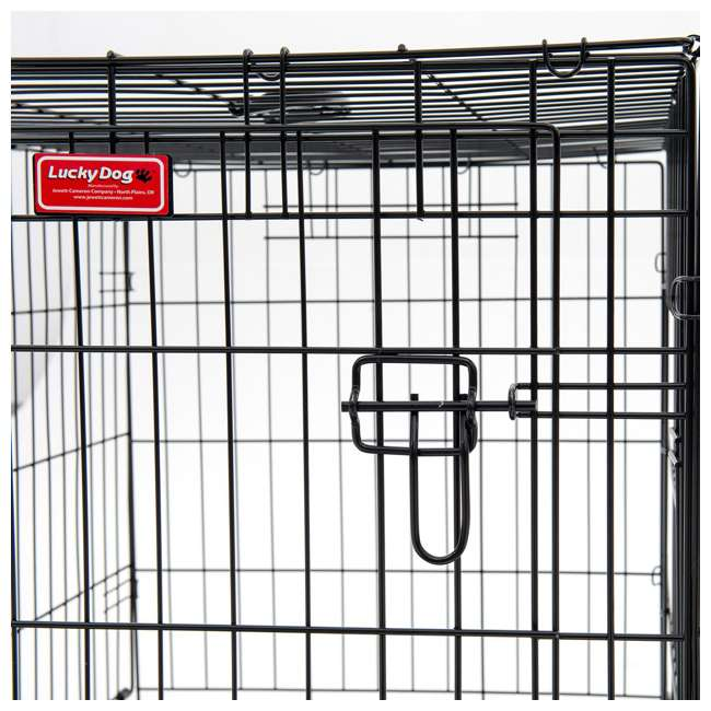 ZW 11542-U-A Lucky Dog 2 Door Dog Kennel w/ Leak Proof Removable Pan, Extra Large (Open Box) 5