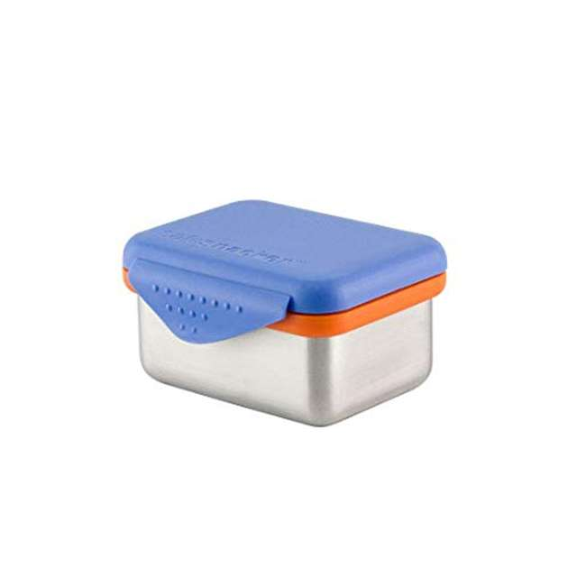 894148002954 Kid Basix Safe Snacker 7 Ounce Stainless Steel Lunch Box, Blue (2 Pack) 3