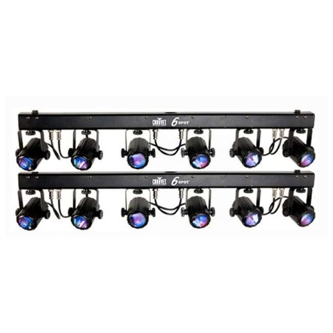 2 chauvet 6spot led effect stage light bar system