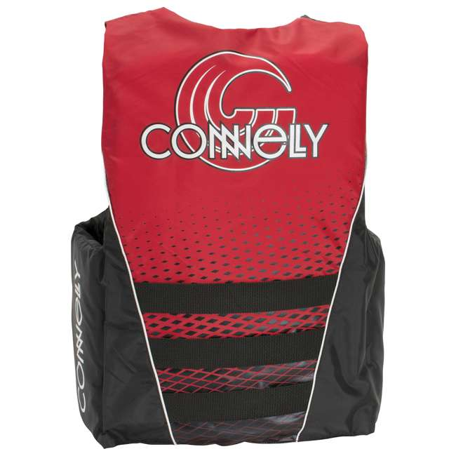 67172002-CON CWB Tunnel 4-Belt Men's Medium Nylon Life Vest, Red