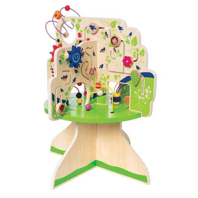 212280 Manhattan Toy Company Wood Tree Top Adventure Activity Play Center for Toddlers 1