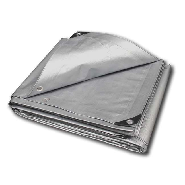 SHDT08X20 King Canopy 8 x 20 Foot Heavy Duty Outdoor Tarp, White