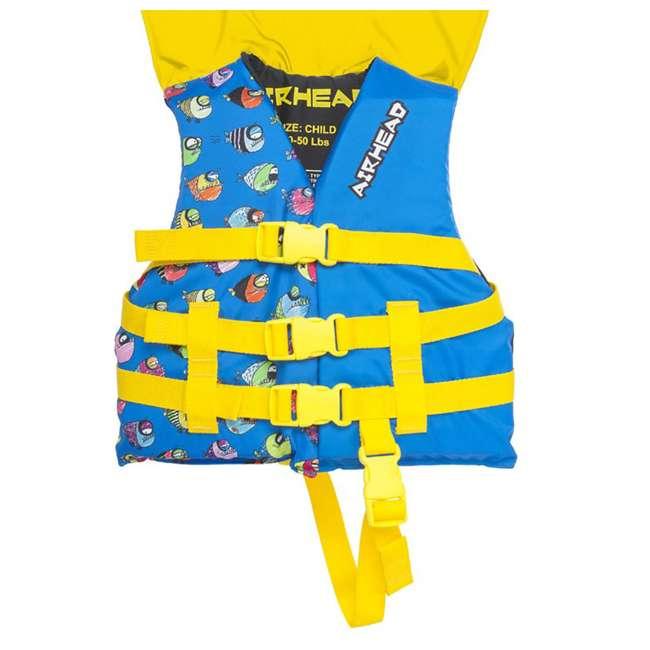 12 x 10086-02-A-BL Airhead Crayon Fish Child Life Vest, Blue (12 Pack) 3