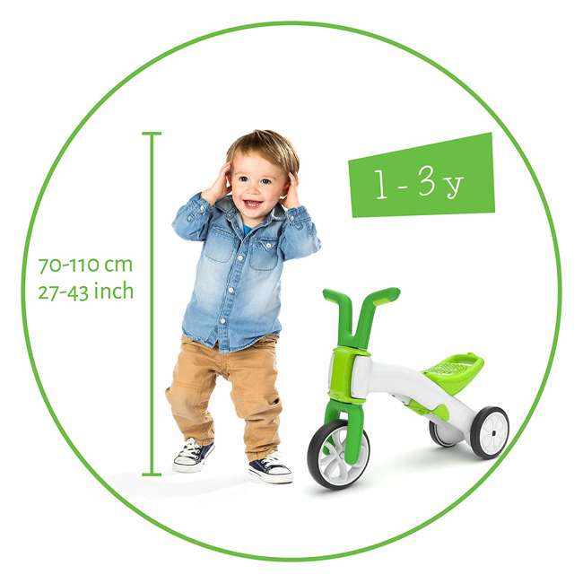 CPBN02LIM Chillafish CPBN02LIM Bunzi Childrens Gradual Balance 2 in 1 Tricycle Bike, Lime 5