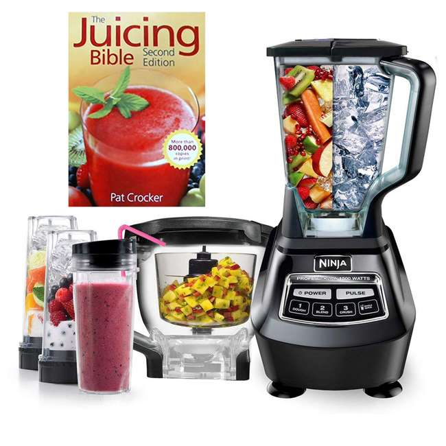 BL772QT-RB + JC100 Ninja Food Processor & Juicing Book (Certified Refurbished) 5