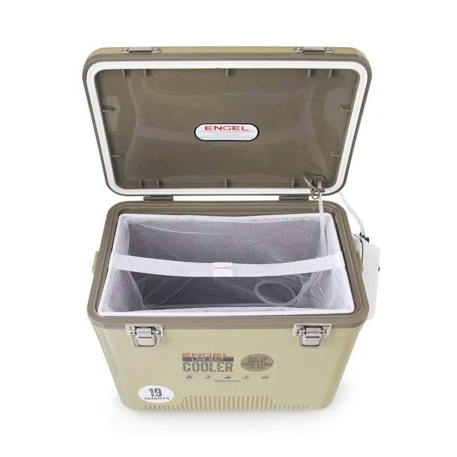 ENGLBC19-N-TAN Engel 19-Quart Hard-Sided Live Bait Fishing Dry Box Cooler, Tan 3