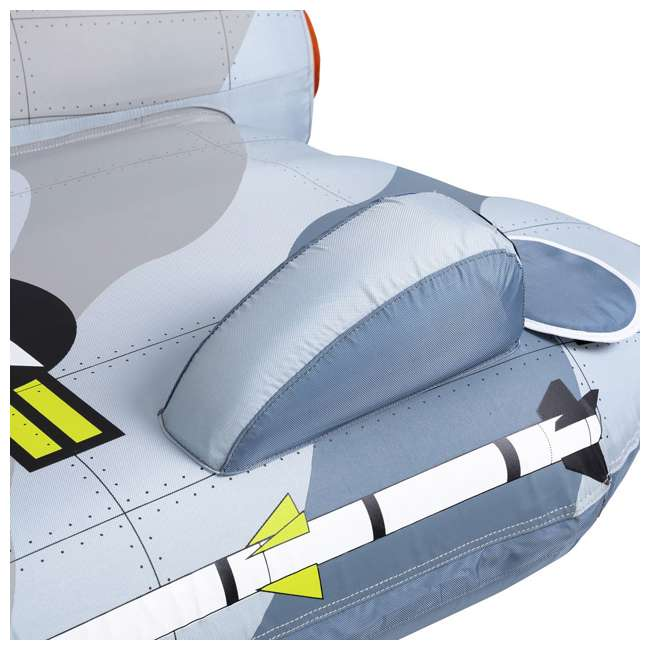 AHFJ-14 Airhead Jet Fighter Airplane 4 Person Inflatable Boat Towable Water Tube Raft 10