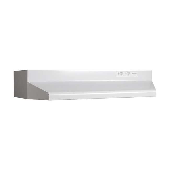 BR-424201 Broan-NuTone 424201 190 CFM 42 Inch Convertible Kitchen Stove Range Hood, White