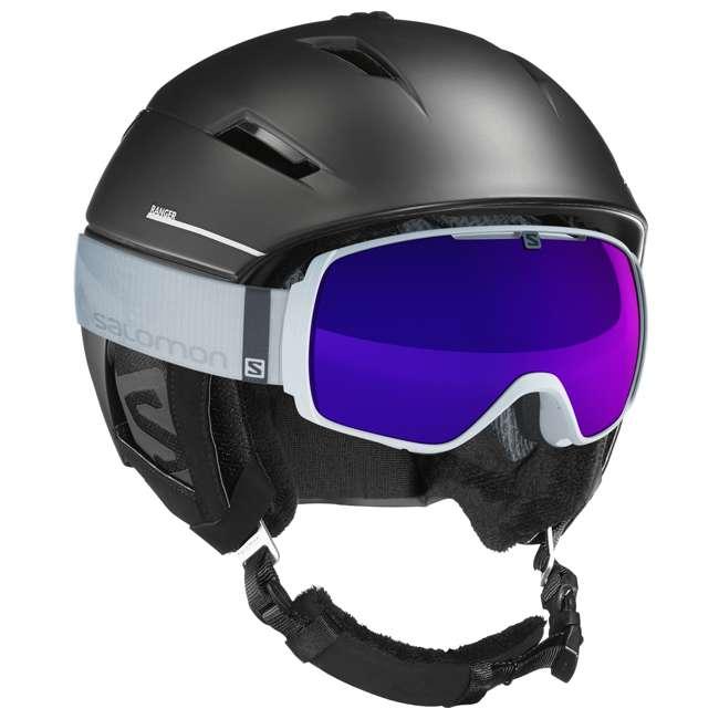 L40535400-M Salomon Ranger Square C Air MIPS Black Helmet, Medium 4