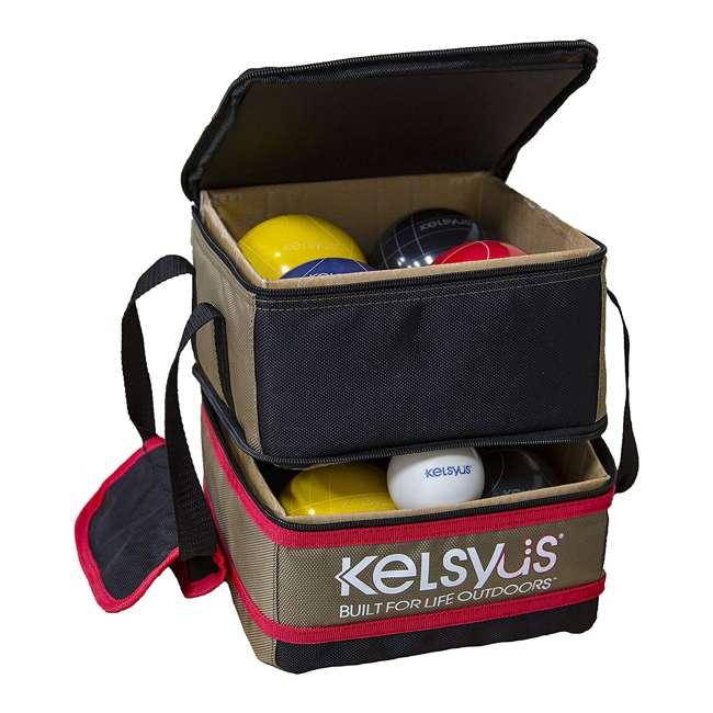 6038655 SwimWays Kelsyus 6038655 Premium 100mm Outdoor Play Bocce Ball Game Set Kit 1