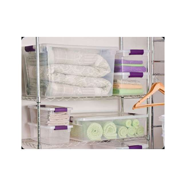 12 x 17571706-U-A Sterilite 66-Quart ClearView Latch Box Storage Container (Open Box) (12 Pack) 6