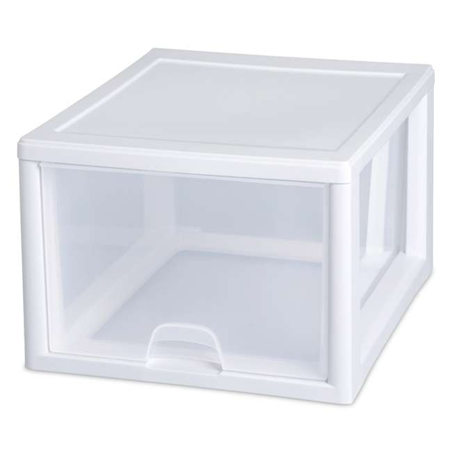 20 x 23108004 Sterilite 2310 27-Quart Single Stacking Drawer - Clear (20 Pack) 2
