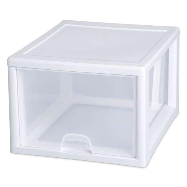 32 x 23108004 Sterilite 2310 27-Quart Single Stacking Drawer - Clear (32 Pack) 2