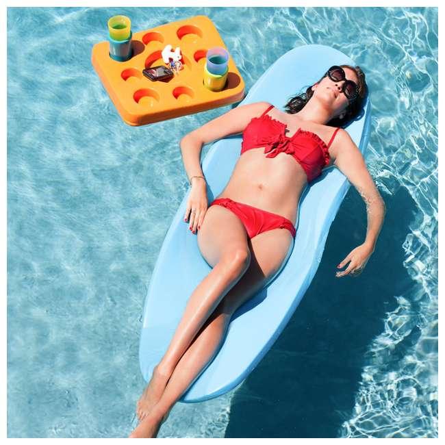 8050028 + 8050026 TRC Recreation Super Soft 70 Inch Foam Pool Float, Marina Blue and Bahama Blue 3