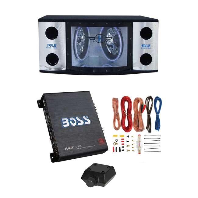 Tremendous Pyle 12 Inch 1200W Subwoofers Boss Riot 1100W Monoblock Amplifier Wiring Digital Resources Funapmognl