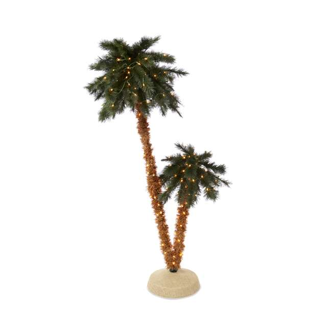 TV60GN519C00 6-Foot Double Pre-Lit Palm Trees with 255 Incandescent Lights
