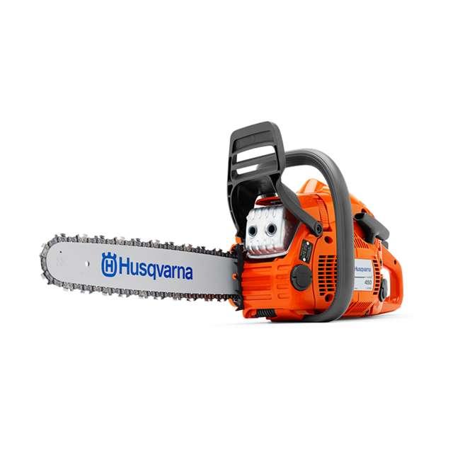 HV-CS-967651104 Husqvarna 450 II E Series 50.2cc 18 Inch Gas Powered Chainsaw with Powerbox Case 1
