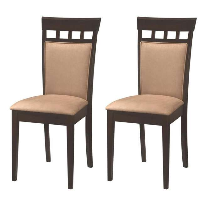 3 x 100773ii-PAIR Coaster Home Furnishings Gabriel Wheat Back Side Dining Room Chairs (6 Pack) 1