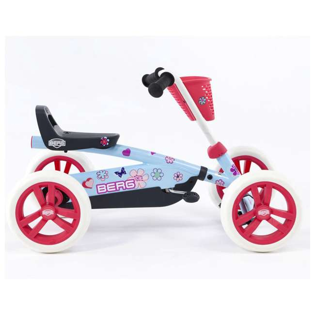 24.30.02.00 Berg Buzzy Bloom Toddler Adjustable Compact Pedal Powered Go Kart, Light Blue  3