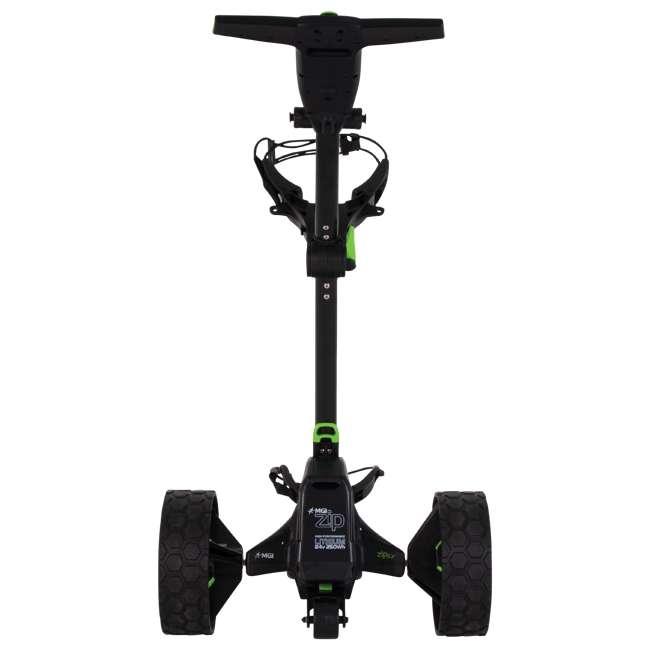 US-ZIPX5B MGI Zip X5 Electric Golf Push Cart Swivel Wheel Caddie with Accessories, Black 4