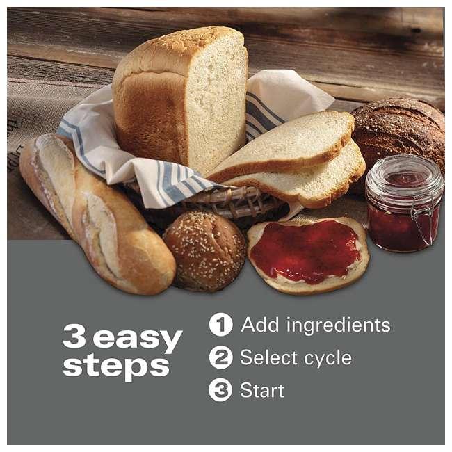 29888 Hamilton Beach 29888 Premium 2 Pound Dough and Bread Maker, Stainless Steel 1