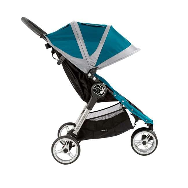 1959130 + 50926 Baby Jogger City Mini Compact Baby Travel Stroller + Pram Bassinet Kit 2