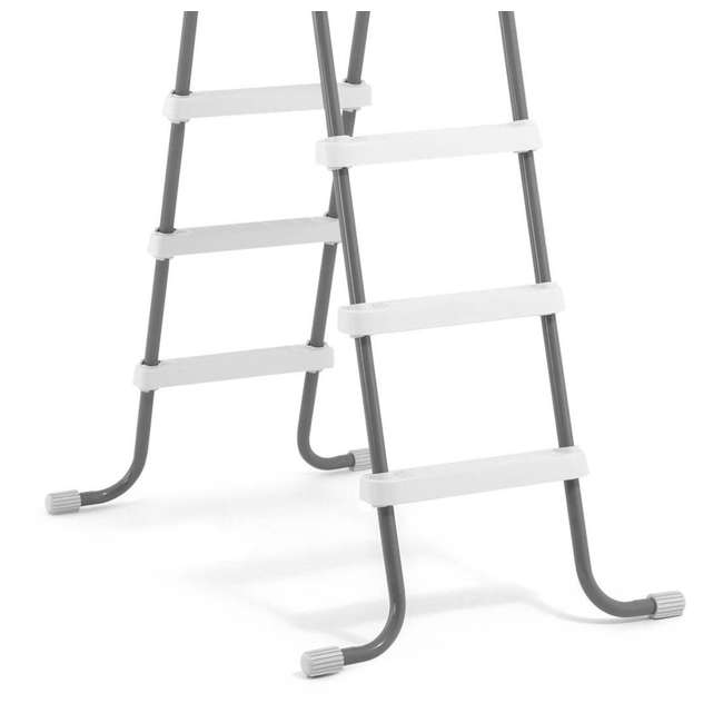 I28066 Intex Above Ground Pool Ladder for 48 Inch Wall Height Pool (Brown Box) 3