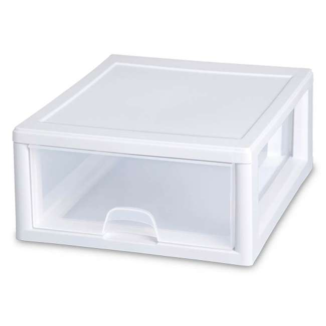 6 x 23018006-U-A Sterilite 6 Pack 6-Quart Modular Stacking Storage Drawer Containers (Open Box)