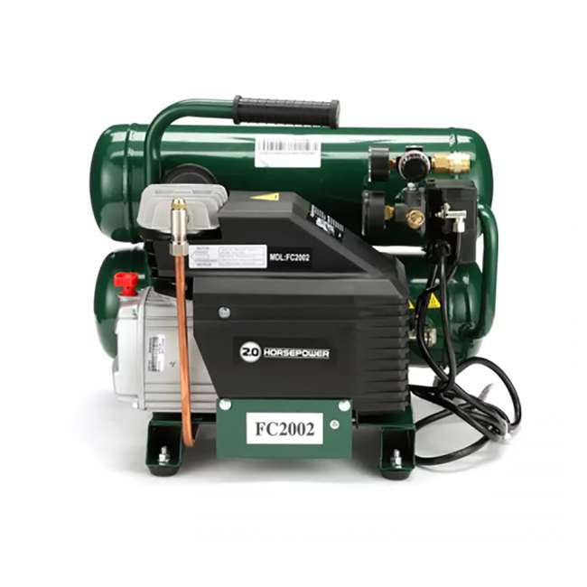 FC2002 Rolair Intelligent Twin Stack 4.3 Gallon Durable Iron Cylindrical Air Compressor 1
