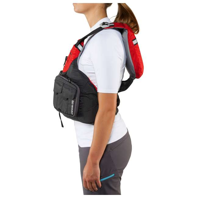 40071.01.101 NRS Chinook OS Type III Fishing Life Vest PFD with Pockets, X Small/Medium, Red 7
