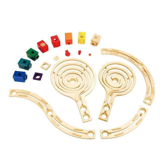 HAP-E6008-U-A Hape Quadrilla Cyclone Wooden Marble Run Maze Toy Construction Set (Open Box) 2