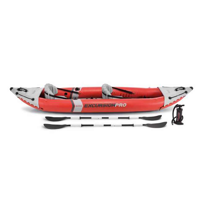 68309EP Intex Excursion Pro Inflatable 2-Person Kayak with Pump, Red 1