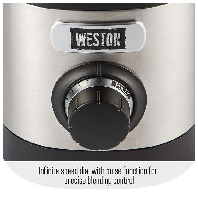 58917 Weston 58917 32 Ounce Blender w/ Sound Shield and Tamper 7
