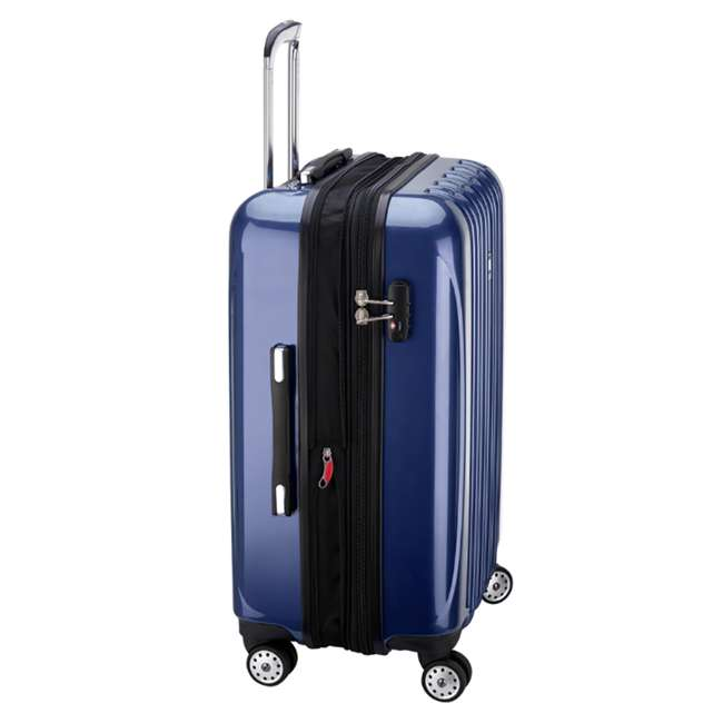 "07647BD DELSEY Paris Aero 25"" Lightweight Hardside Expandable Rolling Travel Bag, Blue 7"