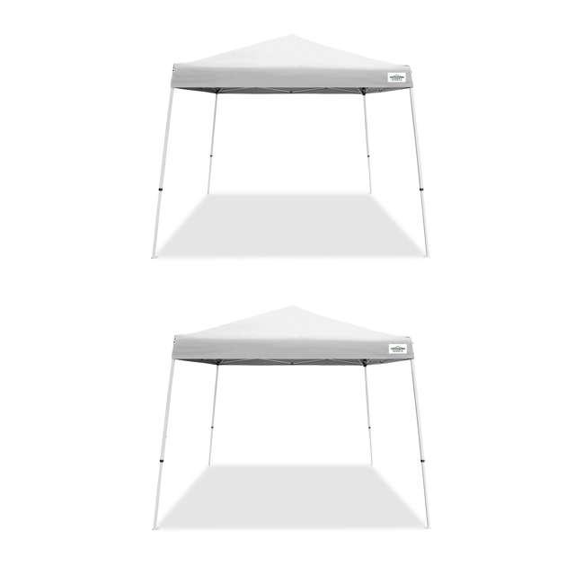 CVAN21007800010 Caravan Canopy V-Series 2 10' x 10' Angled Leg Canopy, White (2 Pack)