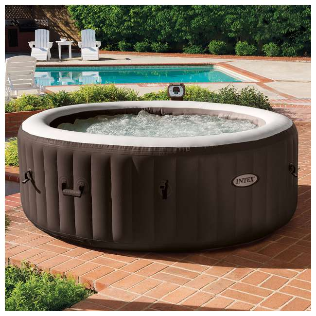 28403VM + 3 x 29001E Intex PureSpa 4-Person Inflatable Spa with Filters (6 Pack) 2