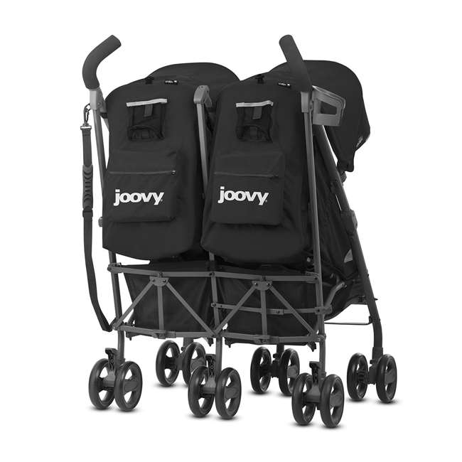 JVY-8087 Joovy Twin Groove Double Ultralight Umbrella Stroller, Black 1