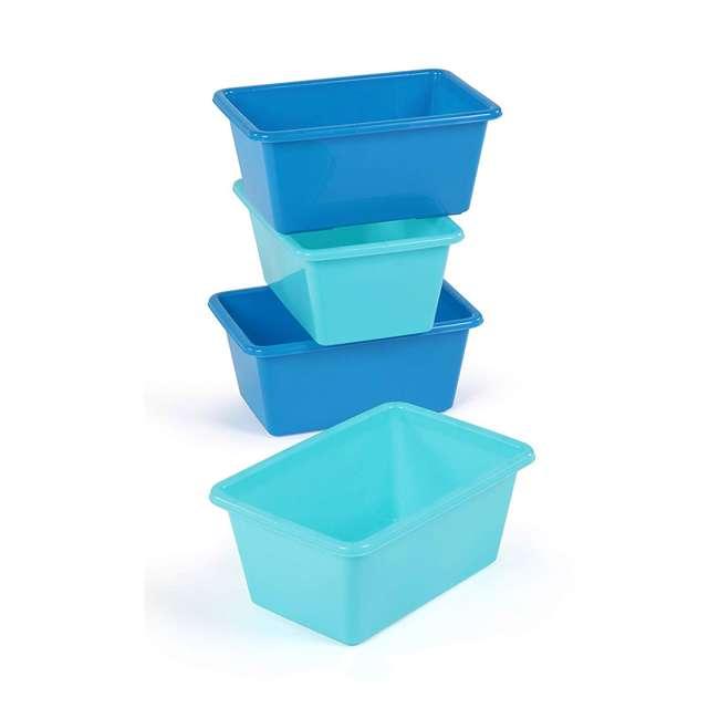 SM098 + SM111 Tot Tutors Plastic Storage Container Bins, Pink/Purple & Blue/Teal (Set of 8) 2