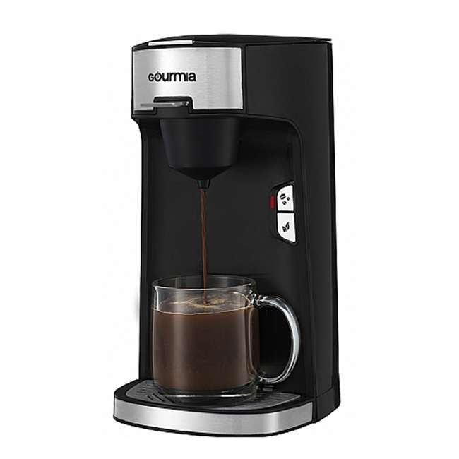 GCM3600 Gourmia Automated Single Serve Coffee and Tea Brewer and Capsule Machine, Black 2