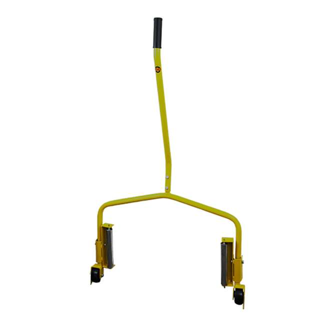 70130 Esco 70130 Truck Tire Heavy Duty Large Wheel Moving Smooth Roller Dolly, Yellow