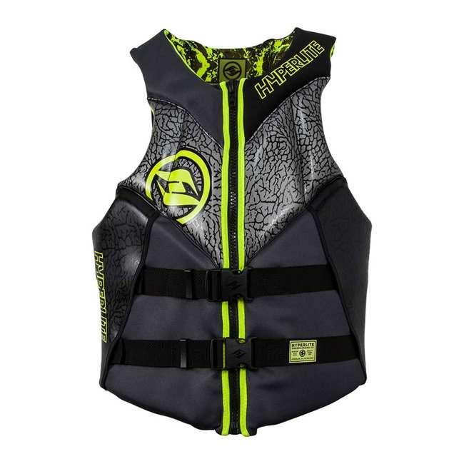 86000135-HO Hyperlite 86000135-HO Mens Medium Indy Neo Life Vest with Flex Zones, Green