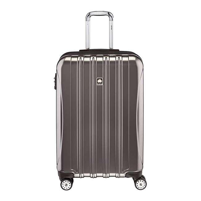 07647PL DELSEY Paris Helium Aero Expandable Medium Carry On Luggage Suitcase, Titanium