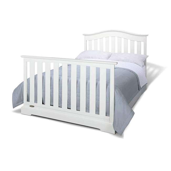 04550-041 + 06711-300 Graco Westbrook 4-in-1 Crib in White w/ Natural Foam Mattress 3
