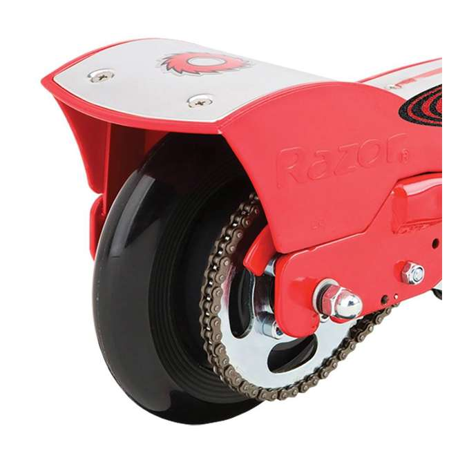 3 x 13111259 Razor E175 Kids Ride On 24V Motorized Battery Powered Scooter Toy, Red (3 Pack) 4