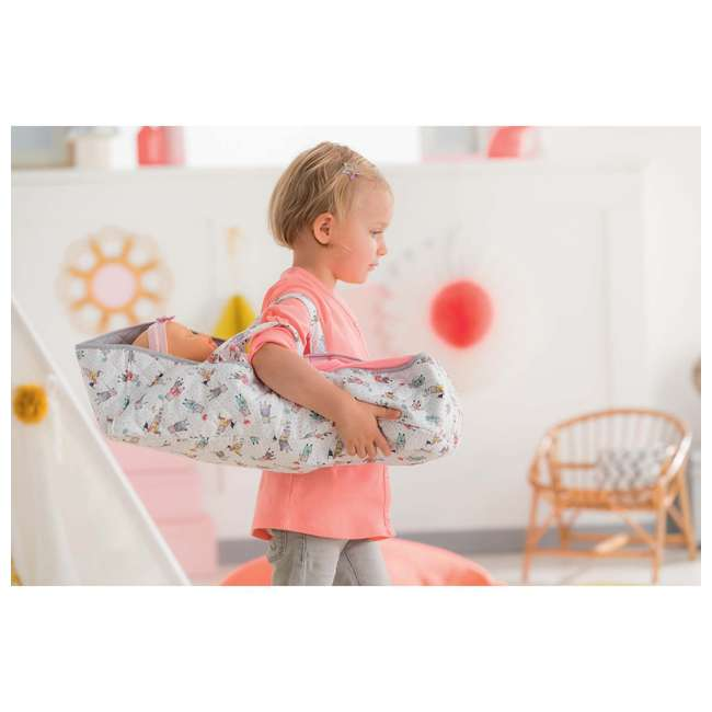 140250 Corolle Mon Grand Poupon Carry Travel Bed Accessory for Large 17 Inch Baby Dolls 2
