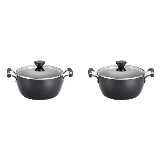 83486 Circulon Acclaim Hard Anodized Nonstick 4.5-Quart Covered Casserole Pot (2 Pack)