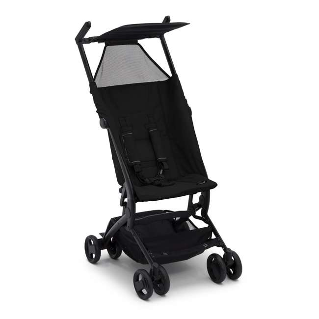 11362-001 Delta Children The Clutch Compact Foldable Light Travel Baby Stroller, Black