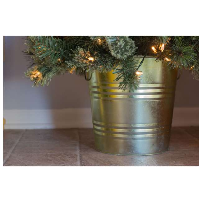 TV22M3M26L02 Home Heritage 26 Inch Artificial Holiday Shrub with LED Lights (2 Pack) 5